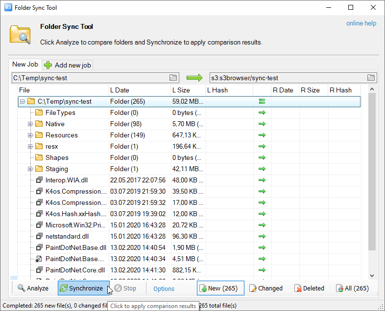 S3 Folder Sync Tool - Synchronize Folders and Files from