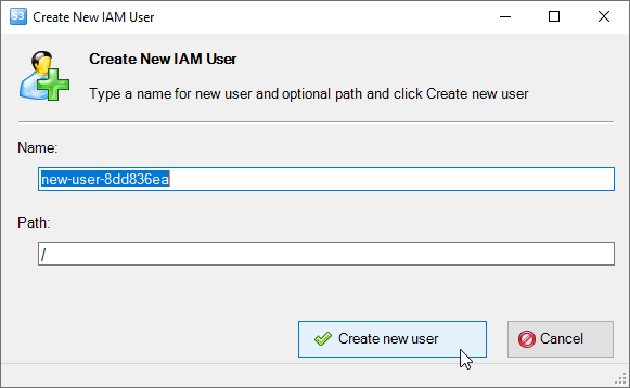 Add New IAM User