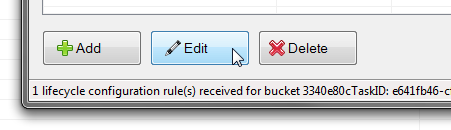 edit object expiration rule button