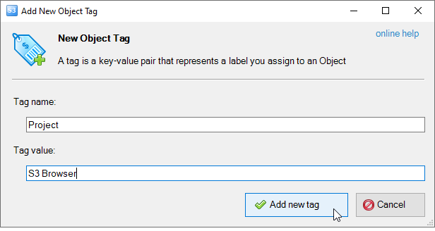 Amazon S3 Object Tagging - manage and control access for